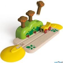 Vláčkodráha KIDS - Kolej se skákacími opičkami (Hape)