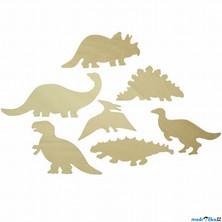 Kreslení - Šablony, Dinosauři, 7ks (Bigjigs)