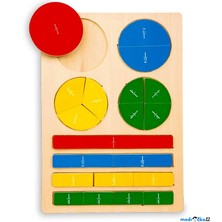 Puzzle výukové - Zlomky na desce (Legler)