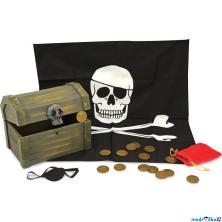 Pirát - Dřevěná pirátská truhla (M&D)