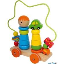 Motorický vozík - Skládačka s drátěným labyrintem (Legler)