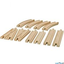 Vláčkodráha koleje - Set kolejí LILLABO, 10ks (Ikea)