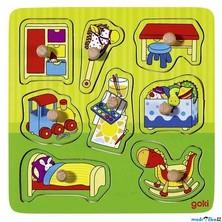 Puzzle vkládací - Dětský pokoj, 8ks (Goki)
