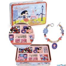 Navlékací perle - Korálky v kovovém boxu, Paris (Vilac)