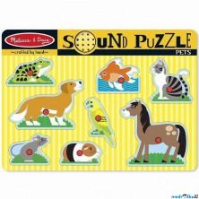 Puzzle muzikální - Domácí mazlíčci, 8ks (M&D)