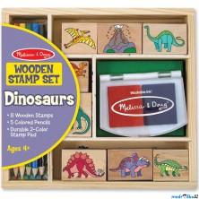 Razítka dřevěná - Set dinosauři (M&D)