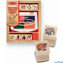 Razítka dřevěná - Set zvířátka ze ZOO (M&D)