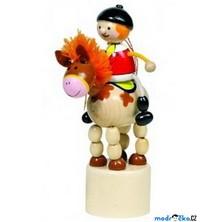 Mačkací figurka - Jezdec na koni (Goki)