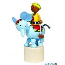 Mačkací figurka - Jezdec na slonu (Goki)