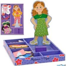 Puzzle oblékání magnetické - Dívka Maggie, 27ks (M&D)