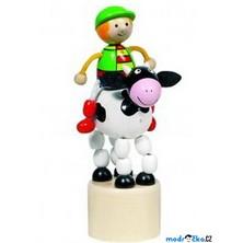 Mačkací figurka - Jezdec na kravičce (Goki)