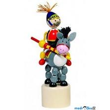 Mačkací figurka - Jezdec rytíř na oslíku (Goki)