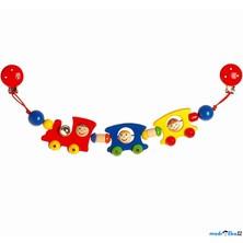 Řetěz do kočárku dřevěný - Vlak (Heimess)