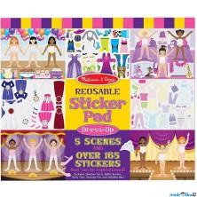 Samolepky - Opakovaně použitelné, Dívčí oblékání, 165ks (M&D)