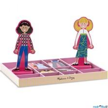 Puzzle oblékání magnetické - Dívky Abby a Emma, 56ks (M&D)