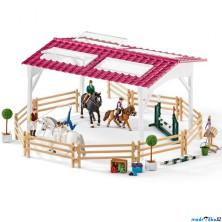 Schleich - Jezdecký klub, Jezdecká škola s jezdci a koňmi