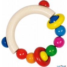 Chrastítko - Kroužek do ruky, Půlkruh s perličkami (Heimess)