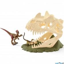 Schleich - Dinosaurus set, Velká lebka s Velociraptorem a ještěrem