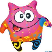 Textilní hračka - Klauník růžový 23cm (Bino)