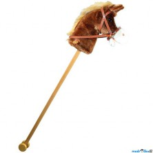 Koňská hlava na tyči - Hnědá se zvuky (Bino)