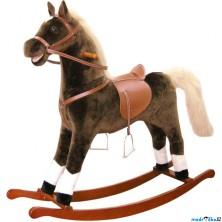 Houpadlo - Houpací kůň, Hnědý plyš, maxi (Bino)