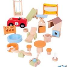 Nábytek pro panenky - Zahradní vybavení (Bigjigs)