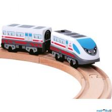 Vláčkodráha vláčky - Elektrická lokomotiva, rychlovlak (Bino)