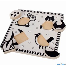 Puzzle pro nejmenší - Vkládačka černobílá, Ryba (Bigjigs)