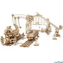 3D mechanický model - Železniční jeřáb, Manipulátor (Ugears)