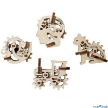 3D mechanický model - U-Fidget, Tribiks 4ks (Ugears)