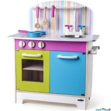 Kuchyň - Dětská kuchyňka Julia, proužkovaná (Woody)