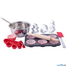 Kuchyň - Pečeme muffiny, kuchyňský set v kufříku (Woody)