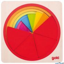 Puzzle vícevrstvé - Kruh, 6 vrstev (Goki)