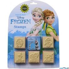 Razítka dřevěná - Ledové království Frozen, 5+1  (JIRI MODELS)