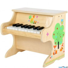 Hudba - Klavír dětský, Přírodní s liškou (Legler)