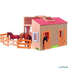 Stáj dřevěná - Stáje v kufříku (Woody)