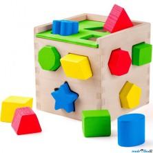Vhazovačka - Vkládací krabička, Krychle (Woody)