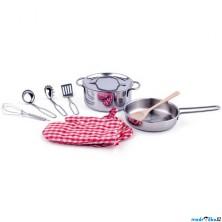 Kuchyň - Hrnec s pánví a náčiním do dětské kuchyňky (Woody)