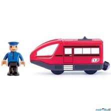 Vláčkodráha vláčky - Elektrická lokomotiva, Moderní červená (Woody)