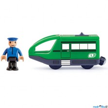 Vláčkodráha vláčky - Elektrická lokomotiva, Moderní zelená (Woody)