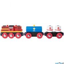 Vláčkodráha vláčky - Vlak s dieslovou lokomotivou (Woody)