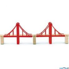 Vláčkodráha mosty - Dvojitý lanový most (Woody)