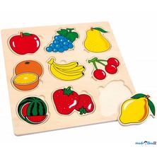 Puzzle vkládací - Ovoce, 9ks (Legler)